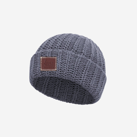 Light Charcoal Classic Baby Beanie
