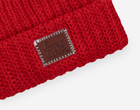 Red Classic Baby Beanie