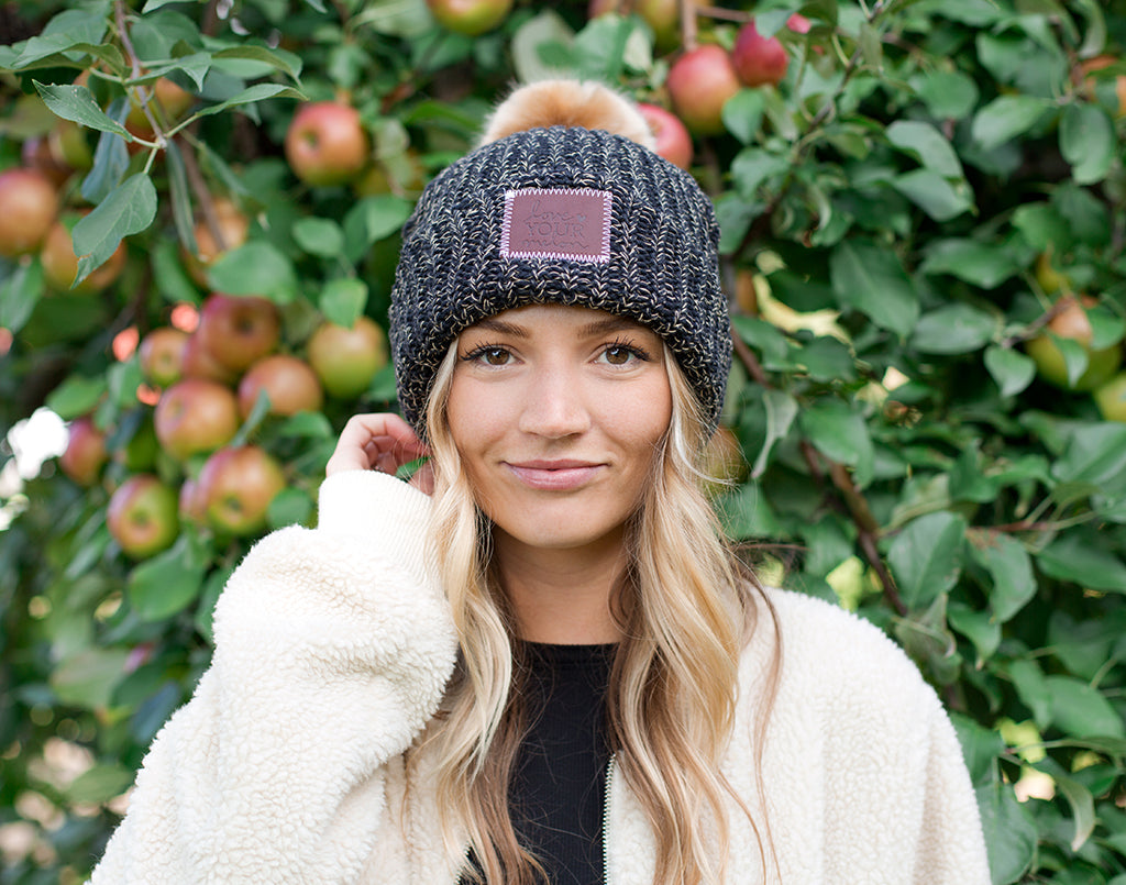 628595fcf8d Love your melon leopard speckled pom beanie natural pom jpg 1024x805 Love  your melon pom hat