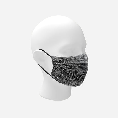 Black and White Speckled Eco-Dri™ Knit Face Mask