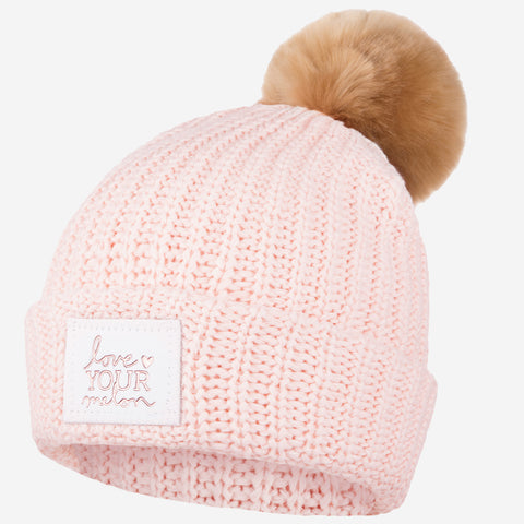 9f835f57e2f71 YOU MAY ALSO LIKE. Blush   White Speckled Rose Foil Pom Beanie (White  Leather) (Natural Pom)
