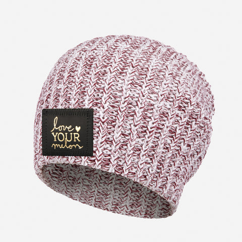 Burgundy Speckled Gold Foil Beanie-Beanie-Love Your Melon
