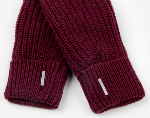 Burgundy Knit Mittens-Accessory-Love Your Melon