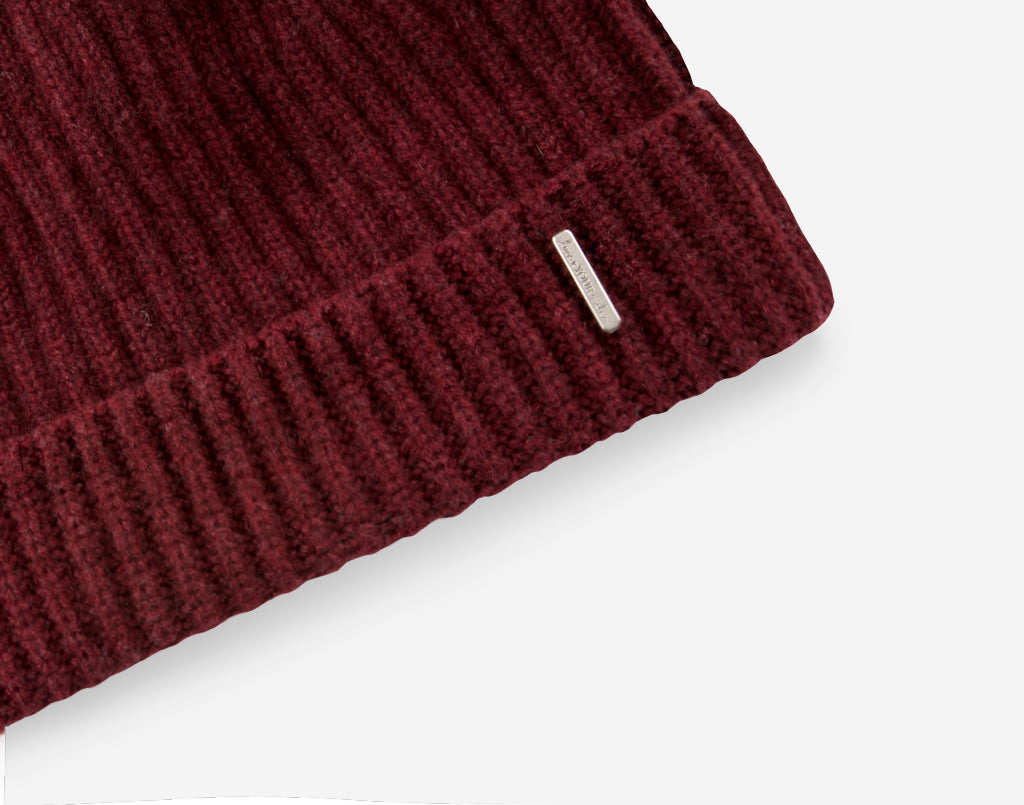 d549c8a005c Love Your Melon Burgundy Cashmere Beanie