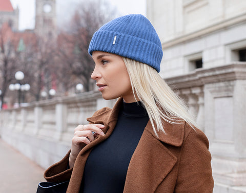 Powder Blue Cashmere Beanie