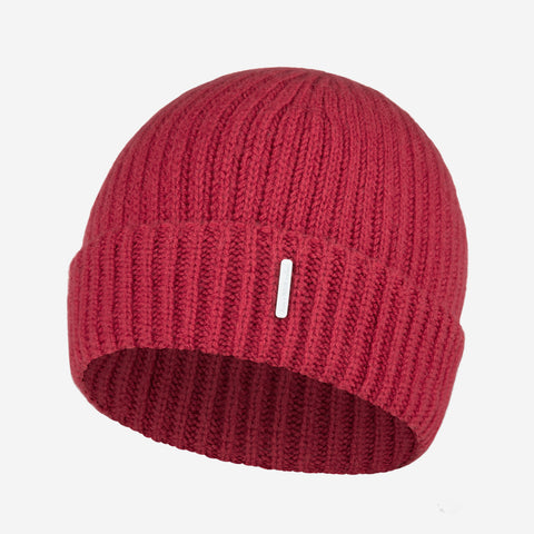 Ruby Red Cashmere Beanie