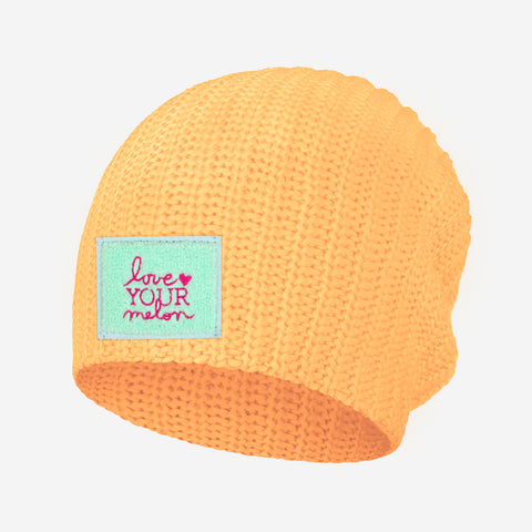 Cantaloupe Chenille Patch Beanie