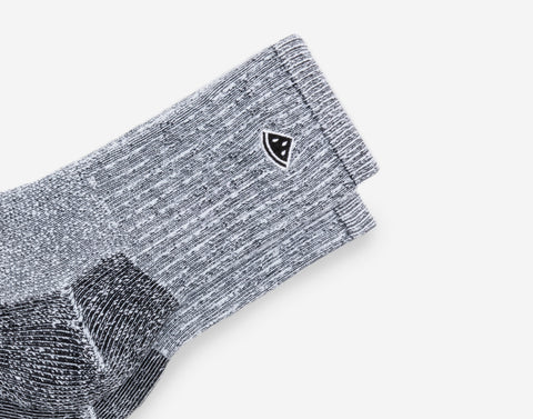 Black Speckled Crew Knit Socks