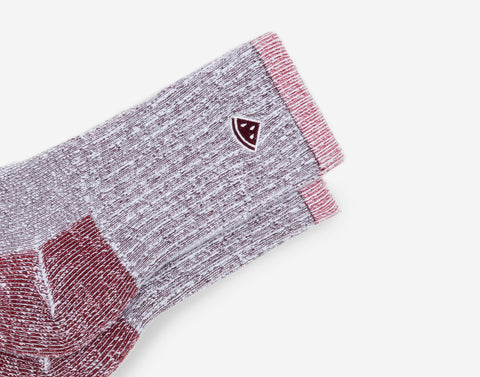 Burgundy Crew Knit Socks