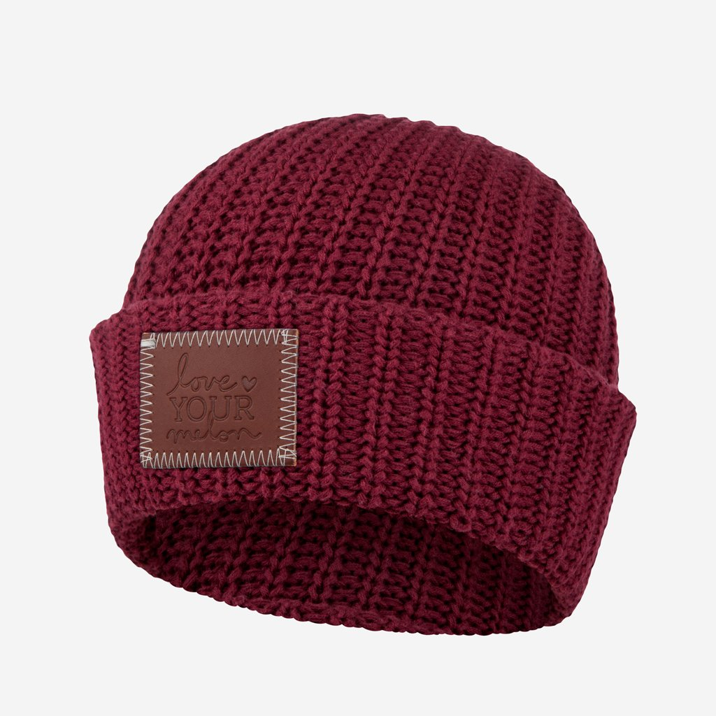 Love Your Melon Burgundy Cuffed Beanie ca96ab75f68