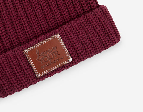 Burgundy Cuffed Beanie-Beanie-Love Your Melon