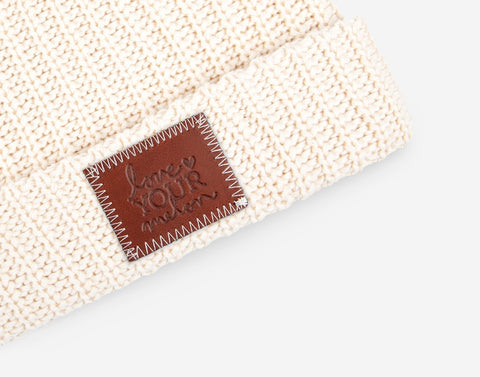 Natural Cuffed Beanie-Beanie-Love Your Melon