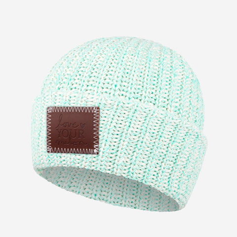 Mint Speckled Cuffed Beanie-Beanie-Love Your Melon
