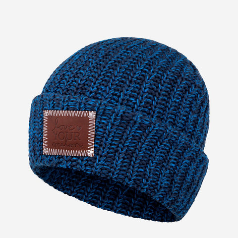 Midnight Speckled Cuffed Beanie-Beanie-Love Your Melon