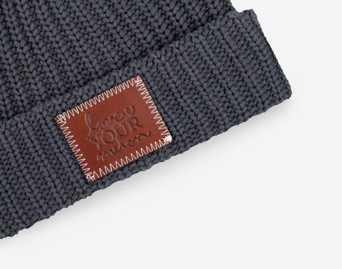 Dark Charcoal Cuffed Beanie-Beanie-Love Your Melon