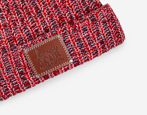 America Pom Beanie (White Pom)-Beanie-Love Your Melon