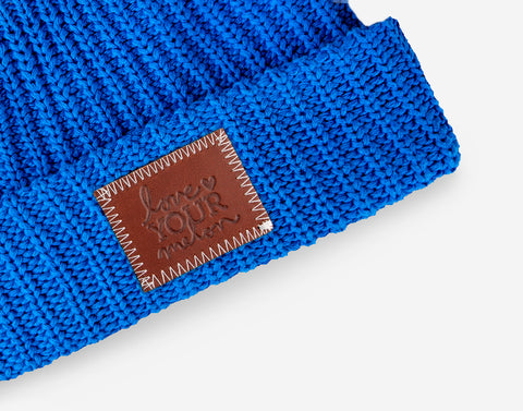 Nebulas Blue Pom Beanie (Natural Pom)-Beanie-Love Your Melon