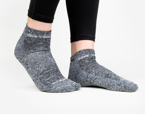 Charcoal Speckled Ankle Socks
