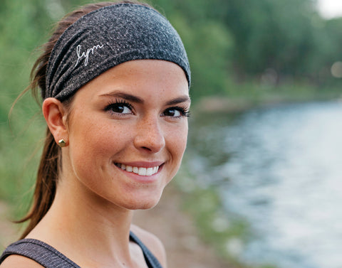 Charcoal Tri-Blend Scrunch Headband