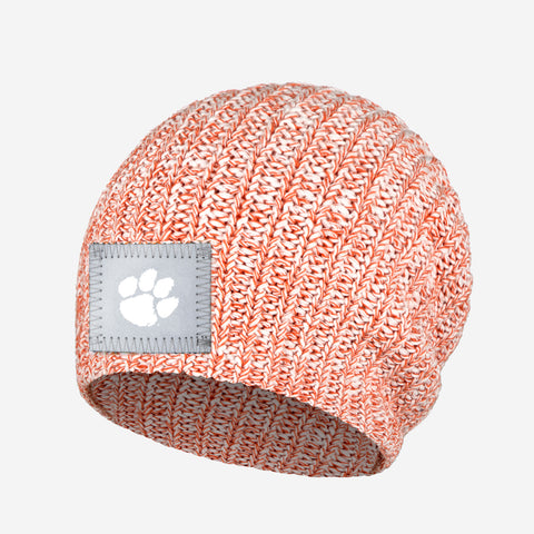 Clemson Tigers White and Orange Speckled Beanie
