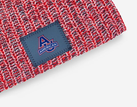 American University Reflective Patch Beanie