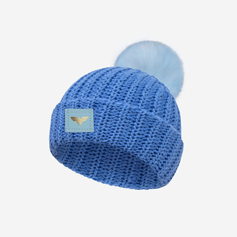 Wonder Woman™ Soft Blue Pom Baby Beanie