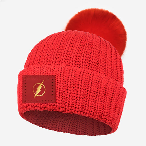 The Flash™ Red Pom Beanie