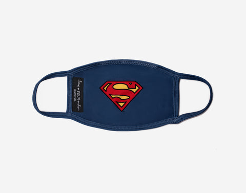 Kids Superman™ Face Mask with Nose Piece + Filter Pocket