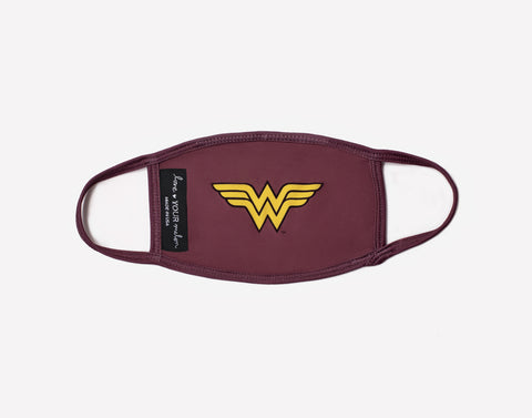 Kids Wonder Woman™ Face Mask with Nose Piece + Filter Pocket