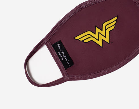 Adult Wonder Woman™ Face Mask with Nose Piece + Filter Pocket