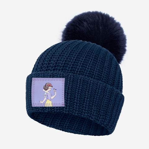 Snow White Kids Pom Beanie