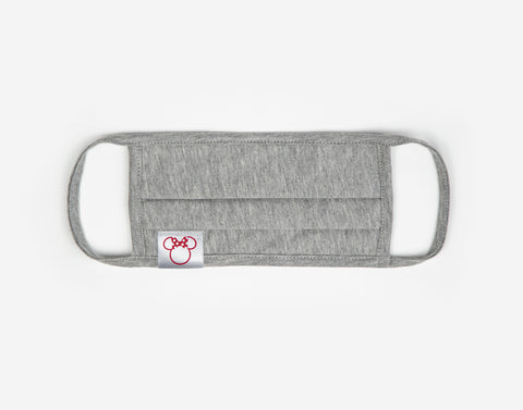 Minnie Mouse Silhouette Adult Heather Gray Pleated Mask