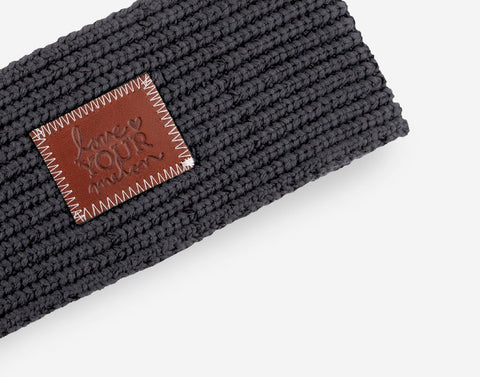 Dark Charcoal Knit Headband-Knit Headband-Love Your Melon