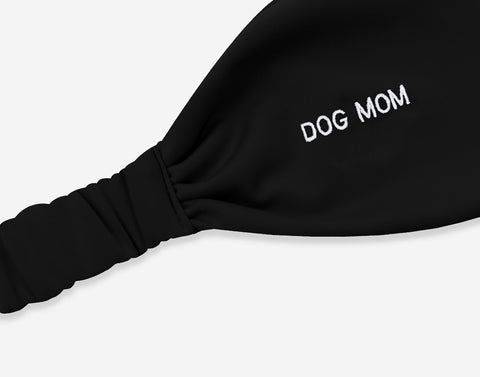 Black Dog Mom Athletic Headband