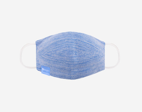 Soft Blue and White Speckled Eco-Dri™ Knit Face Mask