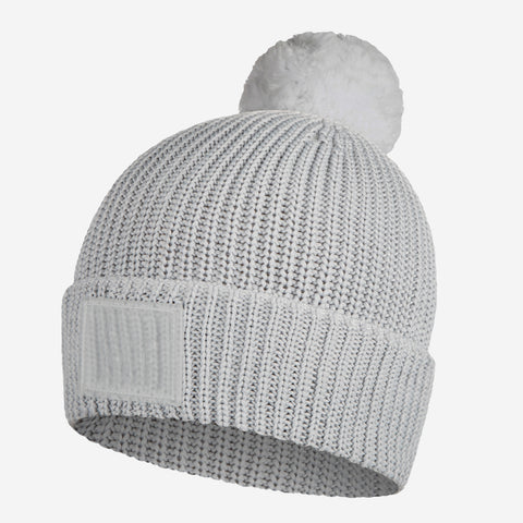 Gray Revitalize Pom Beanie