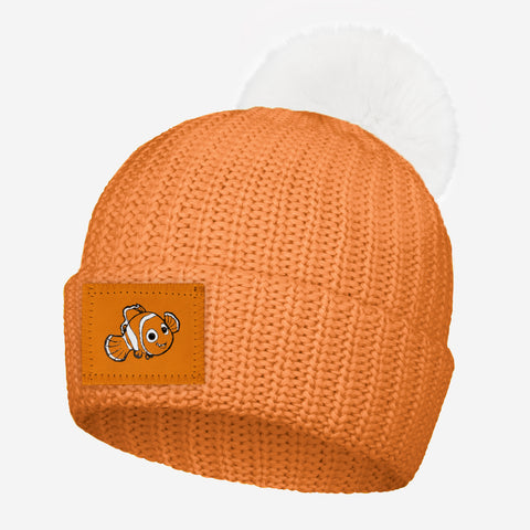 Nemo Sun Orange Pom Beanie