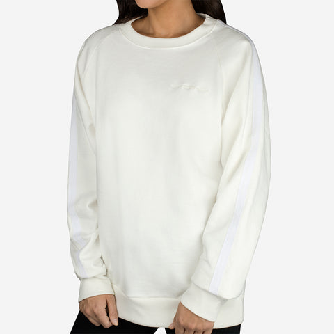 White Taped Crew Sweatshirt-Apparel-Love Your Melon