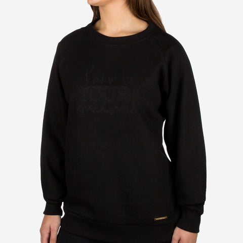 Black Gold Bar Crew Sweatshirt