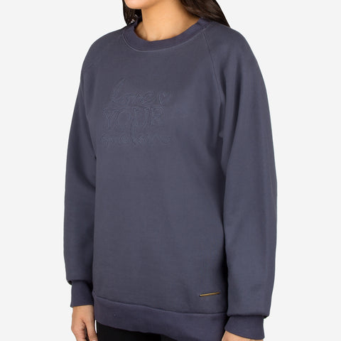 Slate Gold Bar Crew Sweatshirt