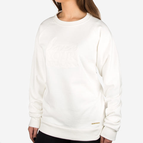 White Gold Bar Crew Sweatshirt
