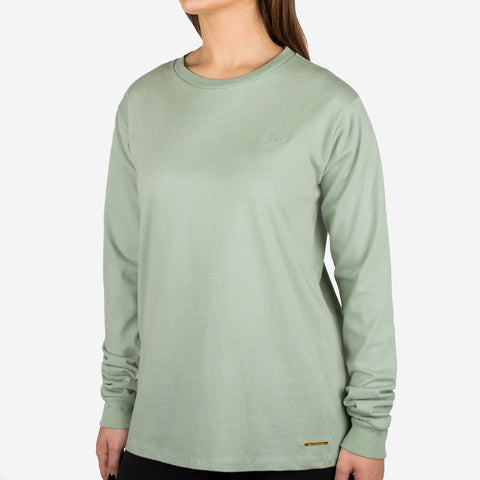 Sage Green Gold Bar Long Sleeve