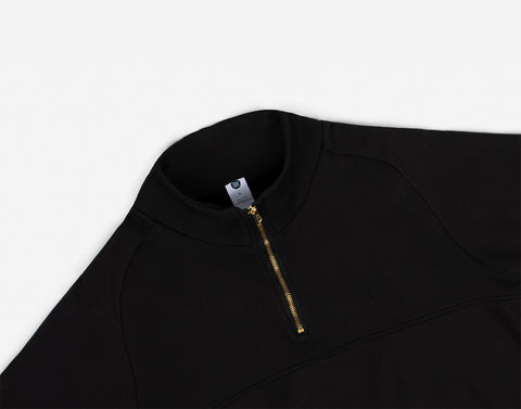 Black Gold Bar Quarter Zip Sweatshirt