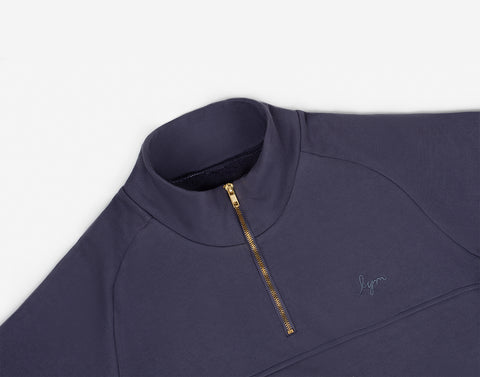 Slate Gold Bar Quarter Zip Sweatshirt