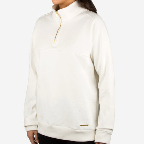 White Gold Bar Quarter Zip Sweatshirt