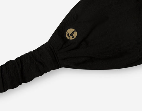 Black Gold Foil Logo Headband