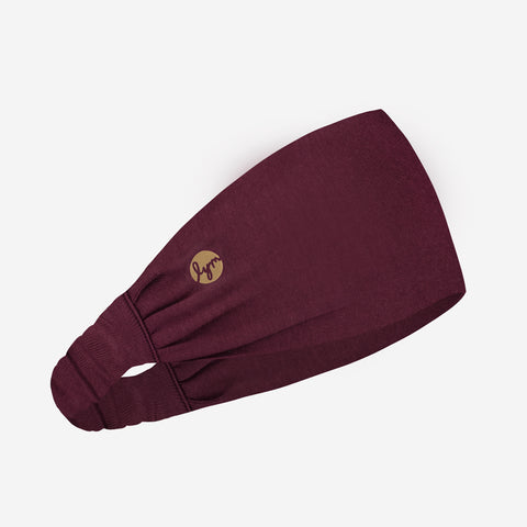 Burgundy Gold Foil Logo Headband