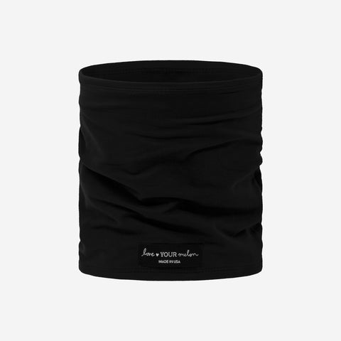 Black 2 Layer Neck Gaiter Face Mask