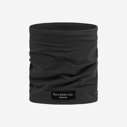 Dark Charcoal 2 Layer Neck Gaiter Face Mask