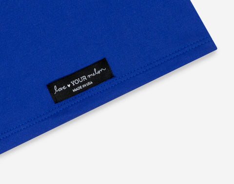 Neon Dark Blue 2 Layer Neck Gaiter Face Mask